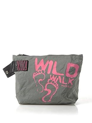 H.Due.O Necessaire Wild Walk Grigio/Fucsia