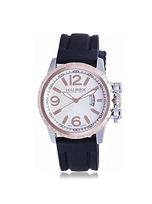 Haurex Men's 3A502USN Aeron Black/Silver Rubber Watch