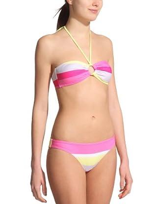 Roxy Bikini Laguna (Rosa / Amarillo / Blanco)