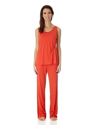 HANRO Damen Unterhemd, 7368 (Rot (0367 scarlet))