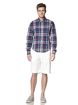 GANT by Michael Bastian Men's The M.B. Colorful Plaid Button-Down Shirt (Perfect Navy)