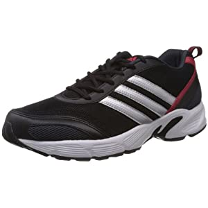 Adidas Men's Imba M Black, White and Red Running Shoes - 8 UK