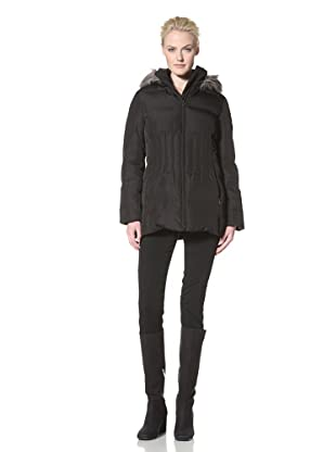 Calvin Klein Women's Down Coat with Hood (Black)