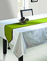Green Table Runner - Cotton Duck Fabric - 13 Inch by 72 Inch - Machine Washable