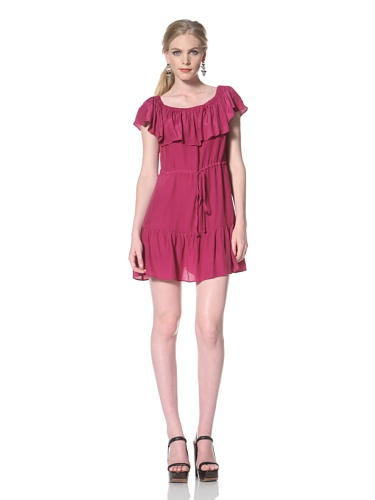 DV by Dolce Vita Women's Lucero Off-the-Shoulder Dress (Magenta)
