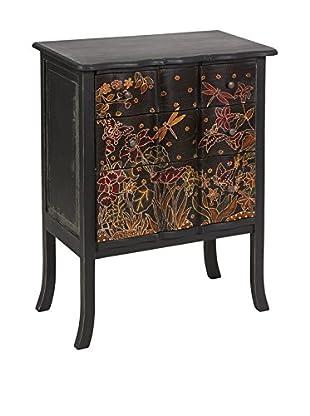 Colonial Style Kommode Batik schwarz