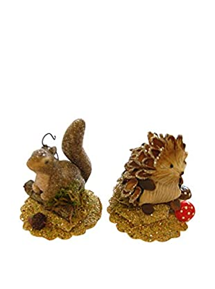 Wendy Addison Set of Two Woodland Animal Ornaments