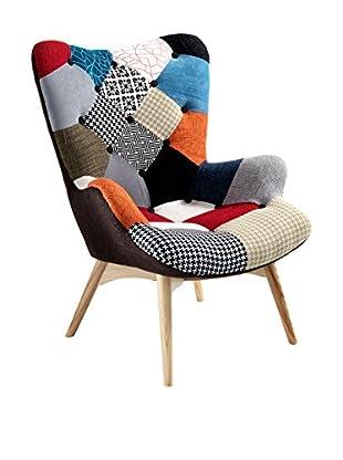 Contemporary Wood Sessel Kaleidos-D