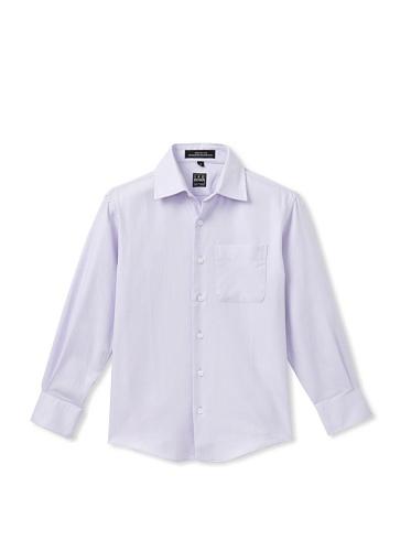 Ike Behar Boy's 8-20 Twill Dress Shirt (Lilac)