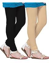 MSS Wings Women's Leggings (Pack Of 2) (Skin-combo2_Multicolor_XX-Large)