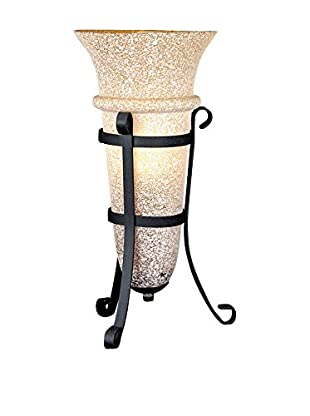 Lite Source Accent Light Table Lamp, Rust/Light Amber