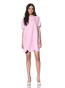 Chloé Women's Shift Dress with Scalloped Hem (Pink)