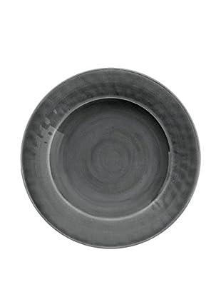 Color Wash Melamine Dinner Plate, Solid Grey