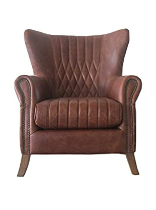 Mélange Home Wilmington Armchair, Mocha Brown