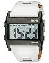 Eos New York Eos New York Unisex 260Swht Nocturne Tre Large Digital Display White Watch - 260Swht