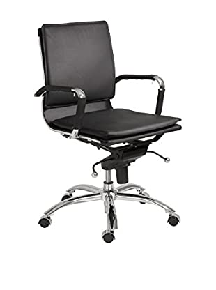 Euro Style Gunar Pro Low Back Office Chair, Black
