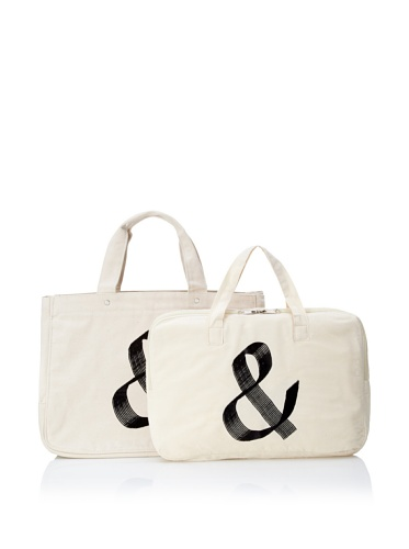 One Language Label Classic Collection Amper Canvas Tote Set (Natural)
