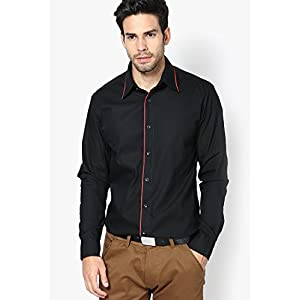 Solid Black Casual Shirt See Designs