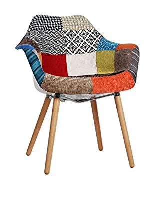 LO+DEMODA Stuhl 2er Set Tower Wood Arms Mix Patchwork