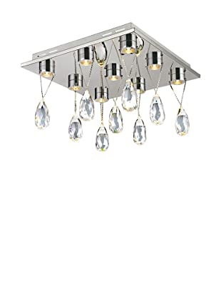 Bel Air Lighting Bejeweled 9-Crystal LED Flushmount, Polished Chrome