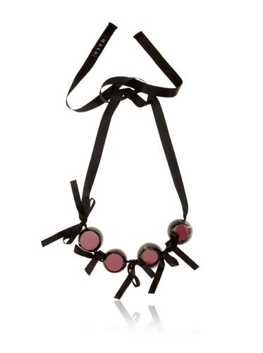 MARNI Women's Raspberry Two-Tone Beaded Necklace