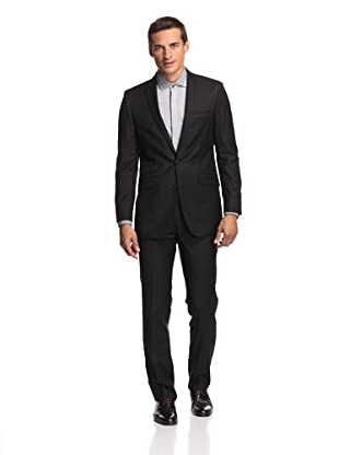 Ben Sherman Men's Tonal Pinstripe Suit (Black)