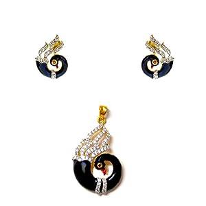 Daamak Jewellery Peacock Golden Pendant Set jewellery Set