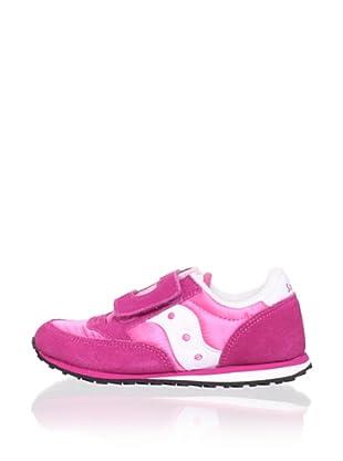 Saucony Kid's Jazz H&L Fashion Sneaker (Toddler/Little Kid) (Hot Pink/White)