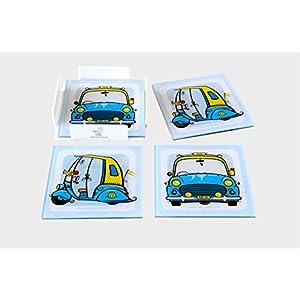 Verry India Auto - Amby - Set of 4 coasters ( Acrylic )