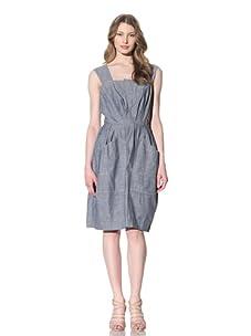 Chloé Women's Pleated Chambray Dress (Blue)