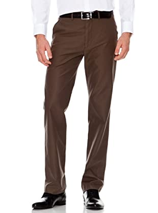 Dockers Pantalón Recto Rayas (marrón)