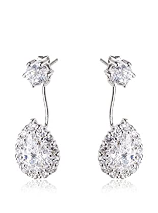 CZ BY KENNETH JAY LANE Pendientes Pear Halo