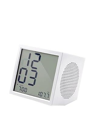 Lexon Prism Clock Radio, White