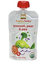 Happy Baby Stage 2 Simple Combos - Broccoli Pear & Pea - 3.5 oz - 8 pk