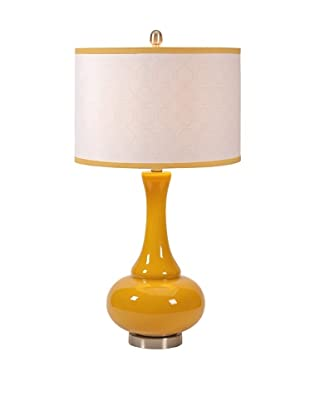Essentials Glass Table Lamp, Mellow Yellow