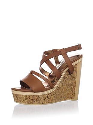 Cynthia Vincent Women's Marlow Platform Sandal (Brown)