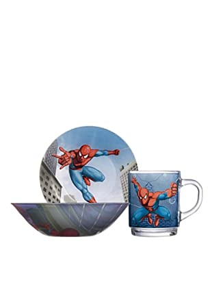 Luminarc Set 3 Piezas Desayuno Modelo Spiderman Street Fights