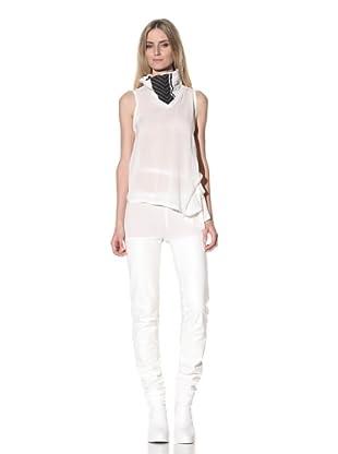 Ann Demeulemeester Women's Sleeveless Tie Top (Off-White/Black)