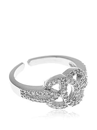 My Silver Anillo Zirconium Espiral