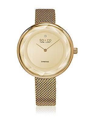 SO & CO New York Uhr mit japanischem Quarzuhrwerk  goldfarben 38 mm