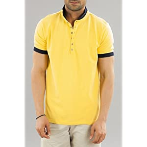 Men Yellow Polo Tshirt