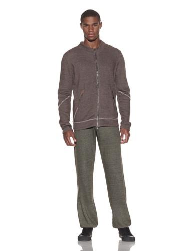 Gypsy 05 Men's Brushed Cotton Zip-Up Jacket (Brown)