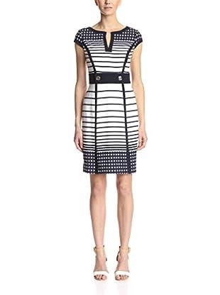 Sandra Darren Women's Cap Sleeve Stripe Sheath Dress