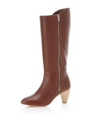 Loeffler Randall Women's Lidia Side Zip Knee-High Boot (Cognac)