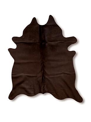 Natural Brand Geneva Cowhide Rug, Chocolate, 7' x 5' 5