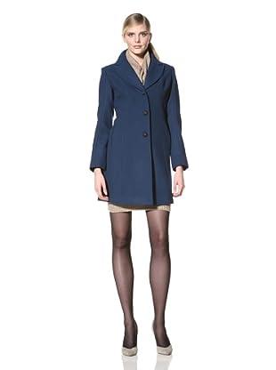 Ivanka Trump Women's Single Breasted Wool Coat (Peacock)