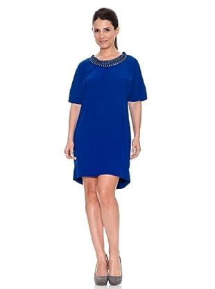 Caramelo Vestido Casual (Azulón)
