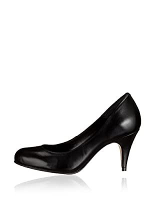 Buffalo London 9681-525 NAPPA 98586 - Zapatos clásicos de cuero  mujer (Negro)