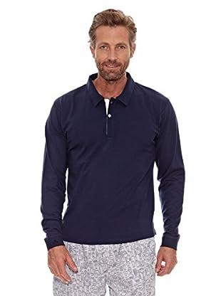 Cortefiel Camiseta Lisa (Azul Marino)