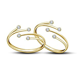Vorra Fashion 14 K Gold-Plated Ring For Women (Gold)